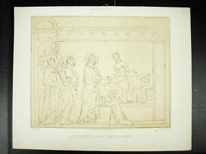 Brillant Jésus Guérit La Belle Soeur De Simon Italie Xive Siècle Litho Xixe 1858 Hangard Pas De Frais à Tout Prix