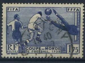 Frankreich-1938-Yv-396-Gestempelt-100-Fussball-Sport