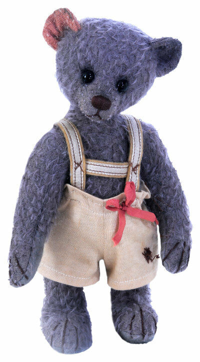 Clemens Limited Edition MAX Teddy Bear 24cm + sacchetto di cotone Grigio Nuovo
