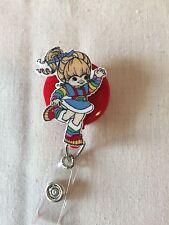 Rainbow Brite Inspired Retractable Reel ID Badge Holder Lanyard Hook 80s Cartoon