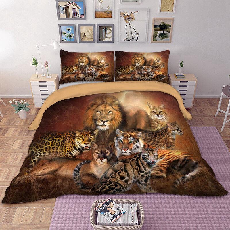 Animal Duvet Cover Set Quilt Cover Queen King Size Bedding Set Pillow Cases