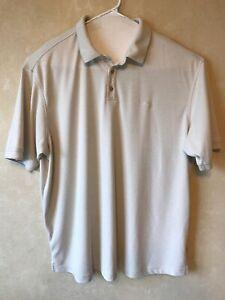 Tommy-Bahama-Short-Sleeve-Marlin-Beige-Golf-Polo-Shirt-Men-039-s-Size-2XL-XXL-EUC