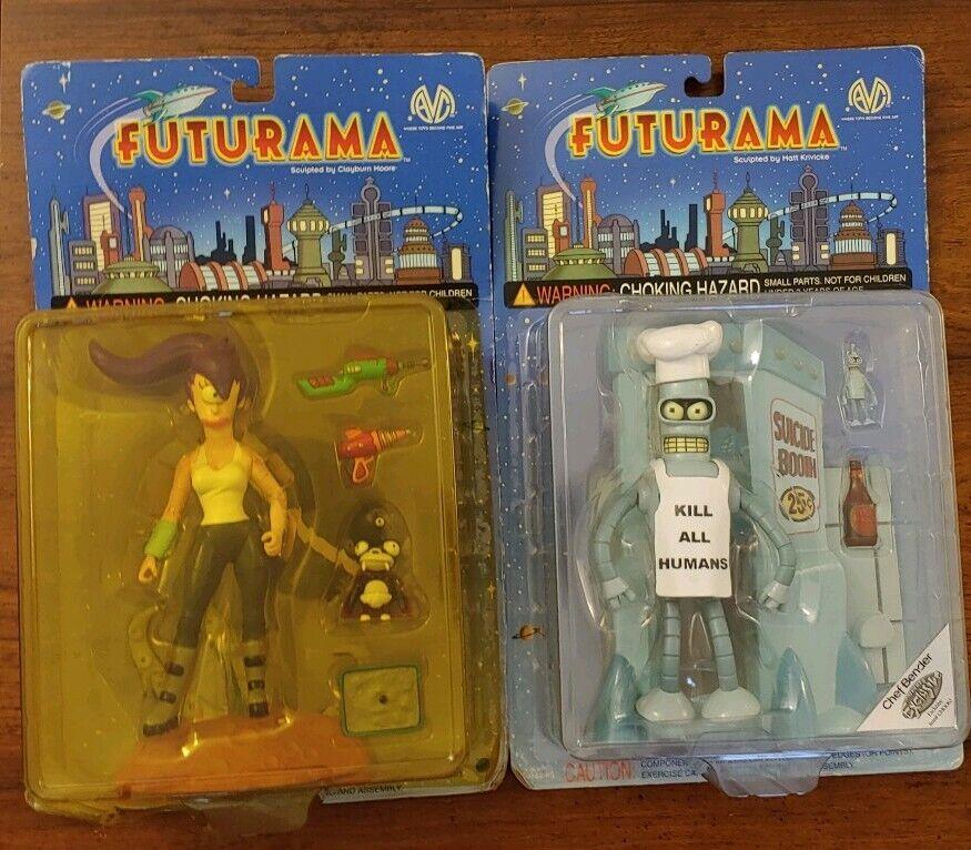 Futurama Moore Action Collectibles Leela & Bender NEW