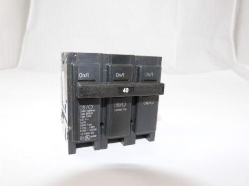 Cutler Hammer BR340 3p 40a 240v Eaton Circuit Breaker NEW 1-year Warranty