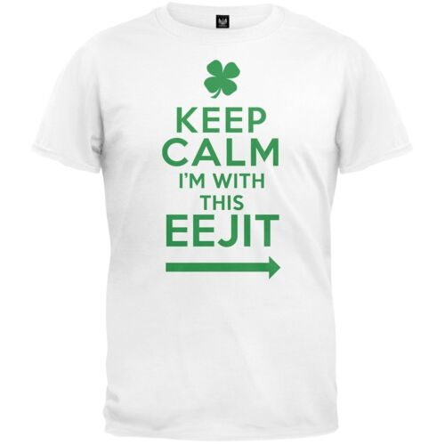 Patrick/'s Day Keep Calm I/'m With This EEJIT Adult Mens T-Shirt St