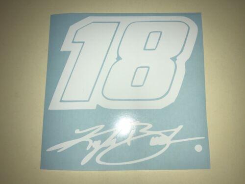 Window Toolbox Stickers #1,063 Nascar #18 Kyle Busch Sticker