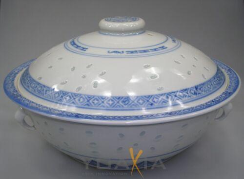"""II Choix-Soupes-reisschüssel avec couvercle ø 23 CM /""""grain de riz Dragon/"""""""