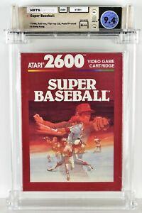 SUPER BASEBALL Atari 2600 Brand New Factory Sealed WATA 9.4 A++ Seal