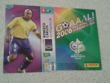 FIFA 2006 World Cup BRAZIL ROBERTO CARLOS Panini Trading Card