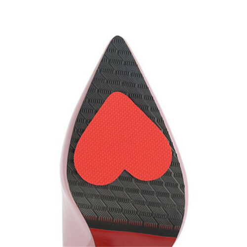 Pink Heart-shaped Sole Non-slip Stickers High-heeled Shoes Foot Protect Tool QP