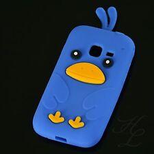 Samsung Galaxy Ace Duos S6802 Silikon Case Schutz Hülle Etui Chicken Blau Cover