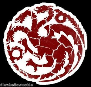 Game-of-Thrones-sticker-decal-House-Targaryen-Warn-Dragon-car-window-laptop-BEST