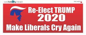MAKE-LIBERALS-CRY-AGAIN-RE-ELECT-TRUMP-2020-POLITICAL-BUMPER-STICKER-9211