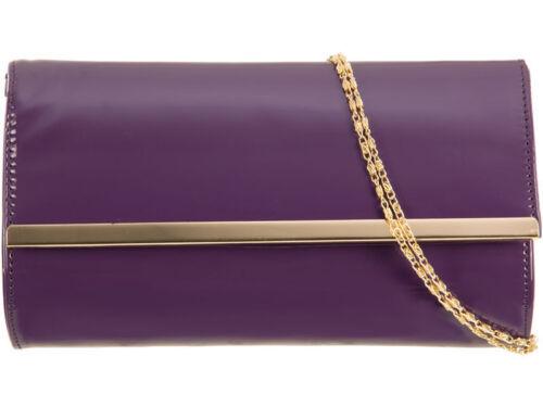 New Ladies Designe Patent Handbag Clutch Purse Prom Party Wedding Bridal Evening