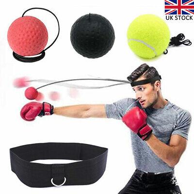 UK Gym Head Speed Tennis Ball Focus Punch Reflex Fitness Boxing Boxing Training