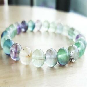 8mm-Rainbow-Fluorite-Beads-Handmade-Mala-Bracelet-Yoga-Tibetan-Meditation-Prayer