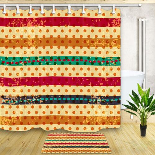 environ 180.34 cm Fashion vagues et Rayures Rideau de douche salle de bains Tissu Imperméable 71 x 71 in