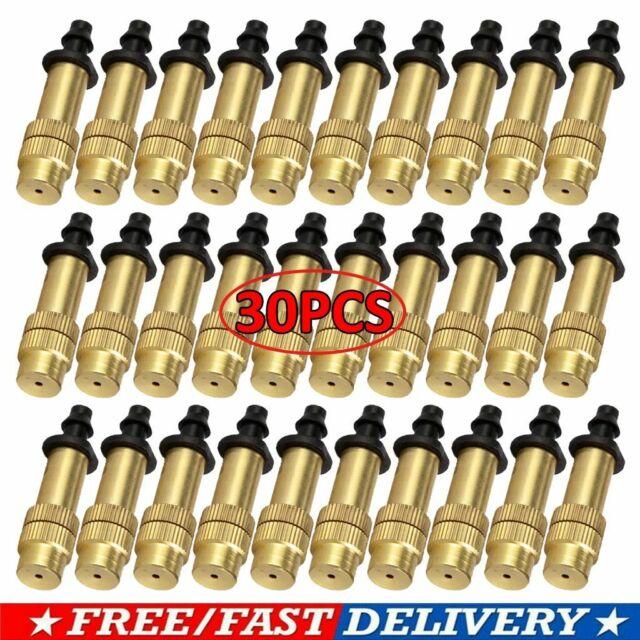 10-50pc Adjustable Misting Nozzle Gardening Watering Brass Spray Sprinkler Spray