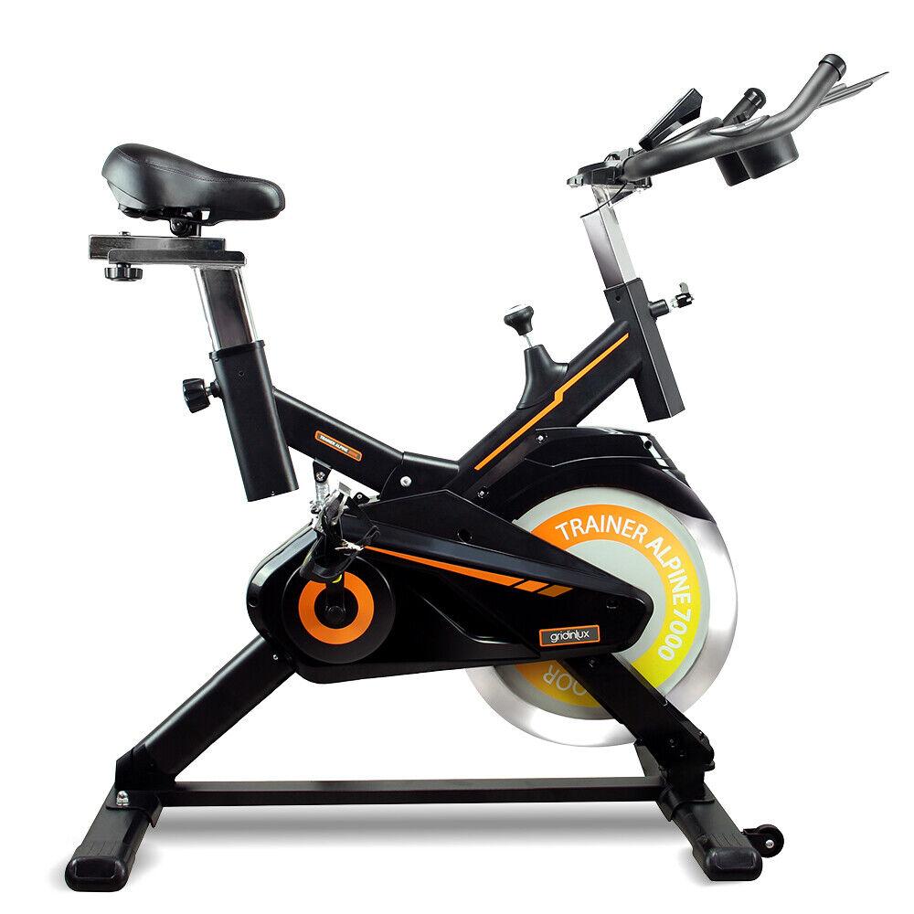 Bicicleta Spinning estática 15KG Pulsómetro Monitor LCD ALPINE 7000 Gridinlux