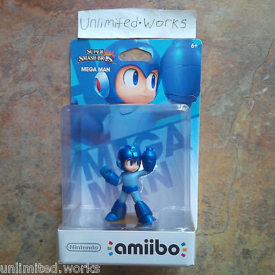 Super Smash Bros Amiibo (Mega Man) Nintendo Wii U & 3DS New Sealed US Version