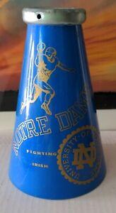 1960's Notre Dame Fighting Irish Blue Plastic Megaphone NCAA Football Game Horn