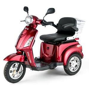 VELECO ZT15 3 Wheeled ELECTRIC MOBILITY SCOOTER 900W RED