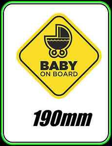 BABY-ON-BOARD-WINDOW-CAR-BUMPER-STICKER-KIDS-FAMILY-WARNING-CHILD-SAFETY-190mm