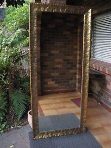 X-Large-Full-Length-Wall-Mirror-Ornate-Gold-Wave-Frame-2Mx88cm-FREE-SYDNEY-DEL