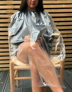 UK-50-Disposable-Polythene-Gown-Hair-Dressing-Salon-Cape-Beauty-Barber-PPE