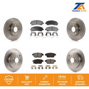Rear Ceramic Brake Pad Set /& Rotor Kit for 2006-2014 Honda Ridgeline