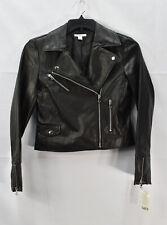 Bar Iii Womens Winter Faux Leather Moto Coat Black Size S 120
