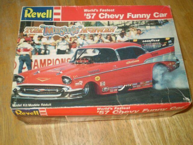 Revell 7172 Tom Mongoose Mcewen 1957 Chevy Fuel Funny Car Model Kit 1 24 For Sale Online Ebay