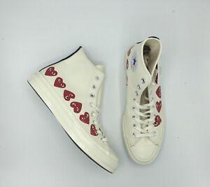 shoes for cheap shopping great prices Details about CONVERSE X COMME DES GARCONS PLAY Multi Heart CTAS 70 HI  White Sz 3-12 162972c