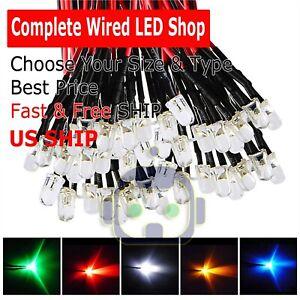 1-8mm-2mm-3mm-5mm-8mm-10mm-Pre-Wired-LED-DC9-12V-Lights-Emitting-Diodes