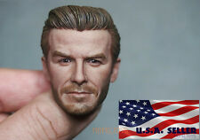 "1/6 Scale David Beckham Head Sculpt 2.0 For 12"" Hot Toys Phicen Male Figure USA"