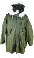 100% Genuine USA Military FISHTAIL M65  PARKA Hood Liner NEW Unworn Size M Olive