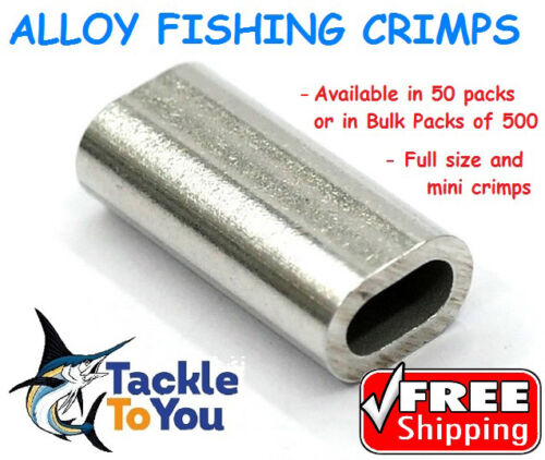ALLOY FISHING SWAGE CRIMPS 0.7,1,1.2,1.3,1.4,1.5,1.7,2,2.3,3.3 FREE SHIPPING!