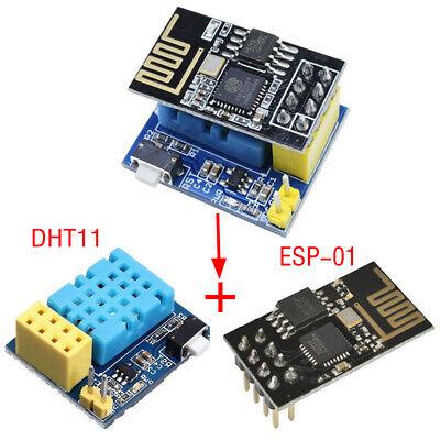 ESP8266 ESP-01S WIFI Wireless Module+DHT11 Temperature/&Humidity Shield Sensor