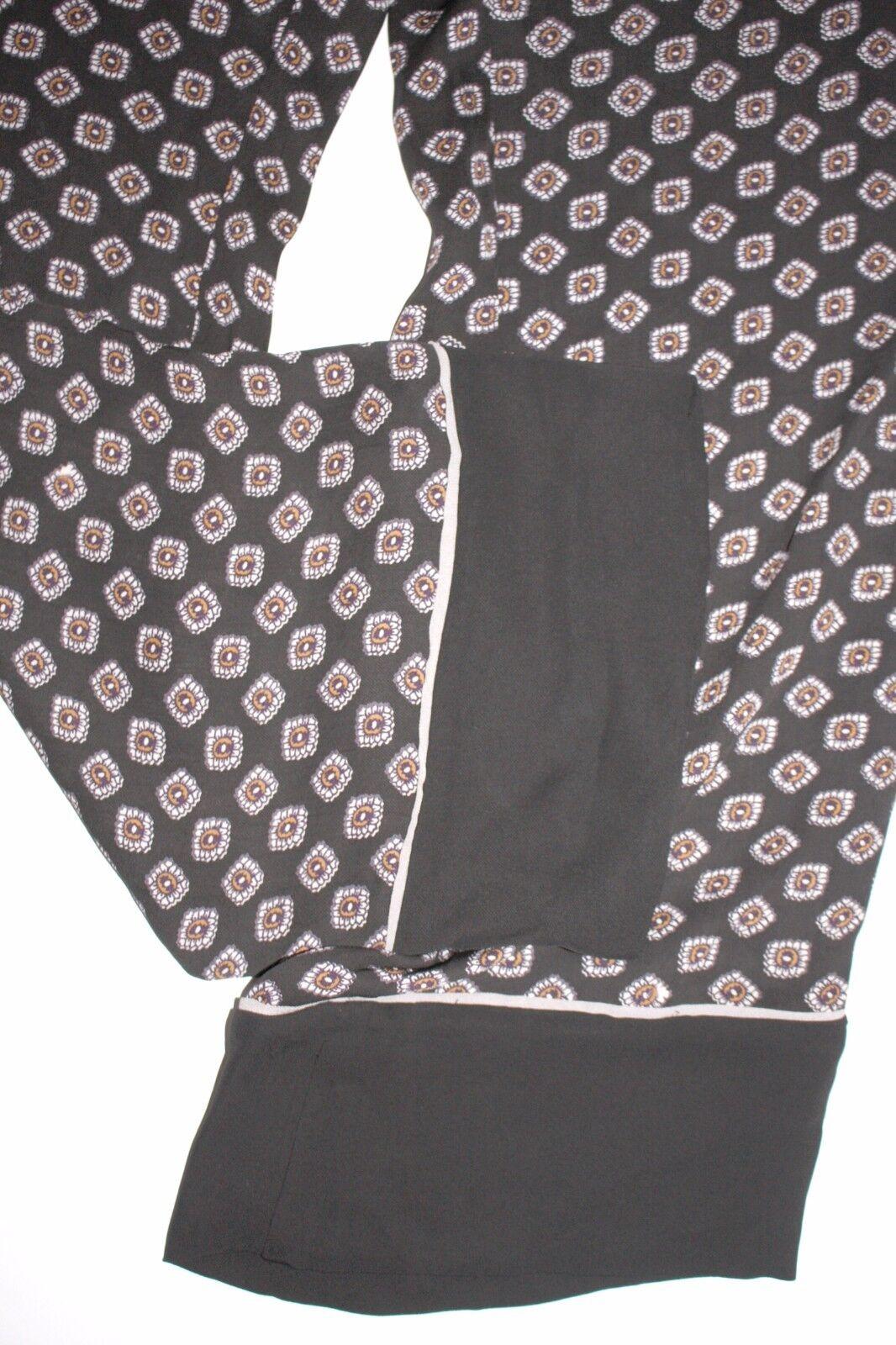 Noa noa Pants pantalones Double Double Double VISCOSE Print gris Talla  42 nuevo a866db