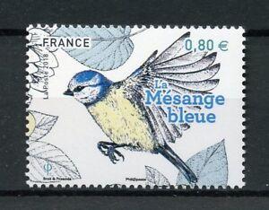 Francia-2018-estampillada-sin-montar-o-nunca-montada-Jardin-Aves-Herrerillo-1-V-Set-Sellos-de-Aves