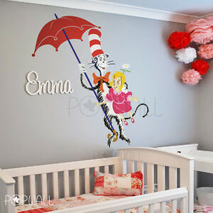 Image is loading Daisy-Head-Mayzie-by-Dr-Seuss-wall-decal- & Daisy-Head Mayzie by Dr Seuss wall decal sticker for nursery theme ...