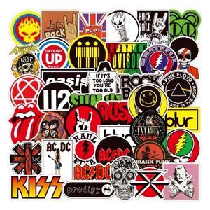 100 Music Band Rock Sticker Vinyl Waterproof Guitar Laptop Skateboard Decorate.
