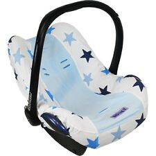 Baby Car Seat Summer Cotton Cover Blue Stars fits Maxi Cosi Cabriofix/Pebble