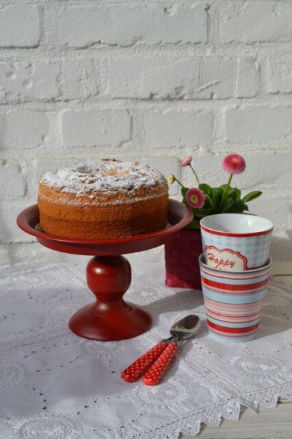Süße Etagere m. Fuß * Tortenplatte ROT * Tortenständer * auch f. Muffins NEU!
