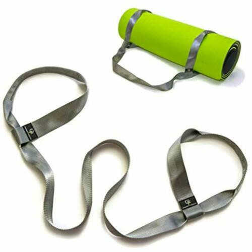"""Details about  /Yoga Mat Strap Sports Outdoors Bags /& Fitness Premium Quality 1.5/"""" Grey, 66"""