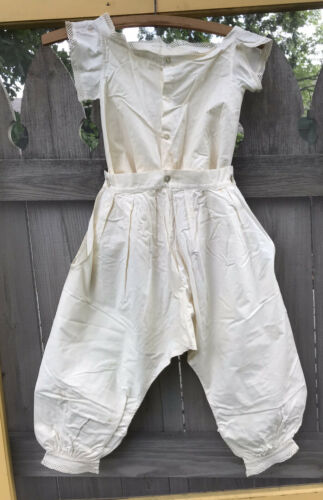 Authentic Antique Girl's Pantaloon Bloomer Camisol