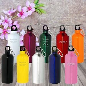 Image Is Loading Custom Engraved Personalised Drink Bottles Water Birthdays