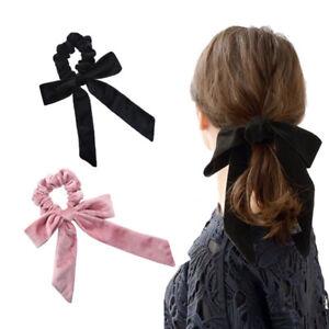 Fiocco-Velluto-Elastico-Capelli-Corde-per-Ragazze-Cravatte-Donna-Fascia