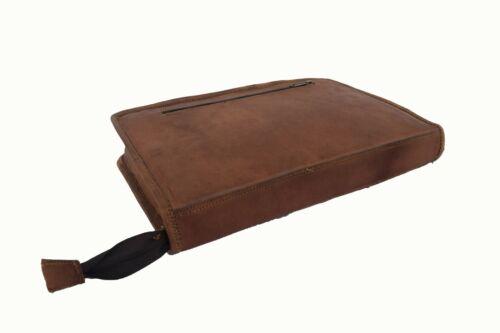 Vintage Leather Portfolio Business Padfolio Folder Executive Planner A4 Case
