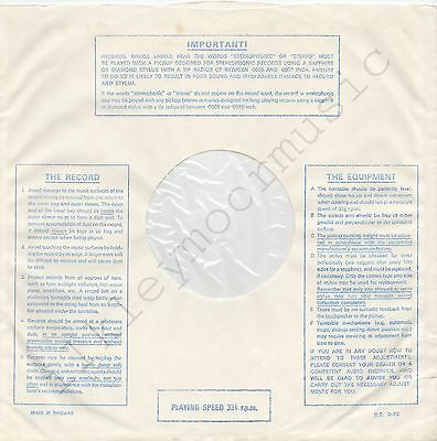 "Music The Record Equipment Lines V3 X 3 Strong Packing Useful Vintage Inner Sleeve Or Sleeves 12"" Important"